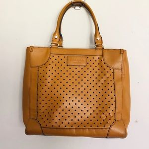 Kate Spade Tan Dot Perforated Leather Handbag